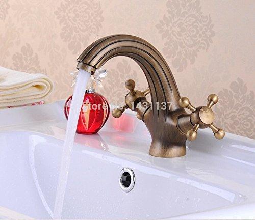 U-Enjoy Messing Material Bronze Top-Qualität Plating Klassischer Entwurf Waschbecken Wasserhahn Mit Kreuzgriff [Kostenloser Versand]