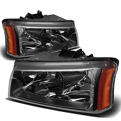 - Black Housing Amber Corner Headlight Lamp for Chevy Silverado Avalanche 03-06 w/o Factory Cladding