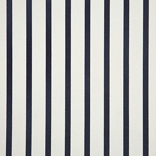 Sunbrella Outdoor Lido Stripe Indigo Fabric By The Yard (Fabric Sunbrella Outdoor)