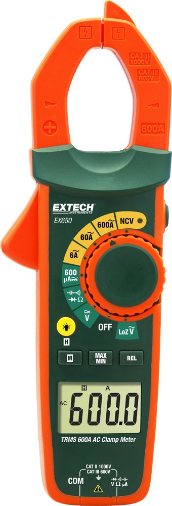 Extech EX650 True RMS 600A Clamp Meter with NCV by Extech
