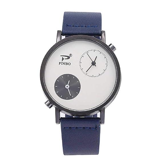 WSSVAN Reloj de los Hombres Estilo Simple Pantalla Doble Reloj de ...