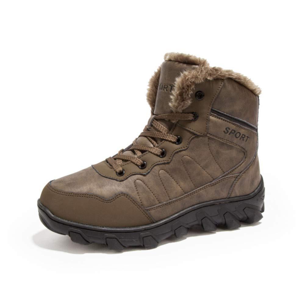 DAN Herrenstiefel Winter Baumwollschuhe Martin Stiefel Schneestiefel Sowie Samt Warme Schuhe Im Freien Wasserdichte Freizeitschuhe