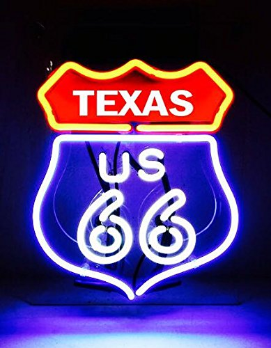 TEXAS State 66 Historic Route Highway Road Map Beer Bar Poster Lamp NEON Light Sign 11