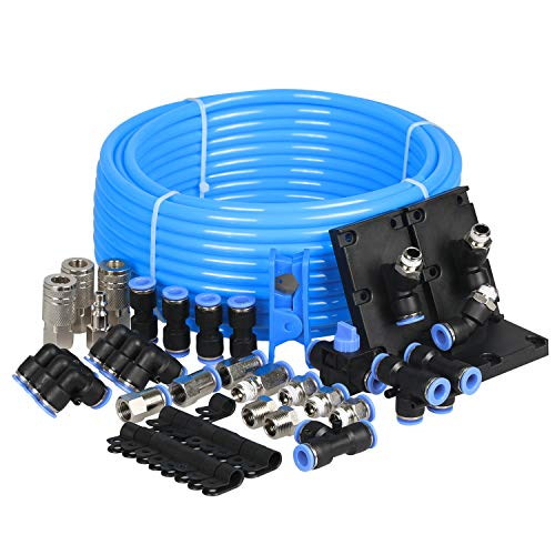 WYNNsky Compressed Air Tubing Piping System Master Kit, Workshop/Garage Complete Airline System, 3/8