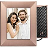 "Nixplay W08E- Peach Copper Iris 8"" Wi-Fi Cloud Digital Photo Frame with IPS Display, iPhone & Android App, iOS Video Playback, Free 10GB Online Storage, Alexa Integration, Peach Copper"