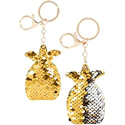 Flip Mermaid Sequin Pineapple Keychain Party Favors Party Supplies (12 pack) …