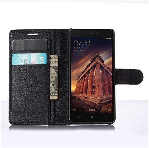 Funda Xiaomi Redmi 3,Manyip Caja del teléfono del cuero,Protector de Pantalla de Slim Case Estilo Billetera con Ranuras para Tarjetas, Soporte Plegable, Cierre Magnético B