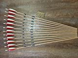 Gold Tip Traditional 400 Arrows With Brass Inserts Custom Made Set of 12