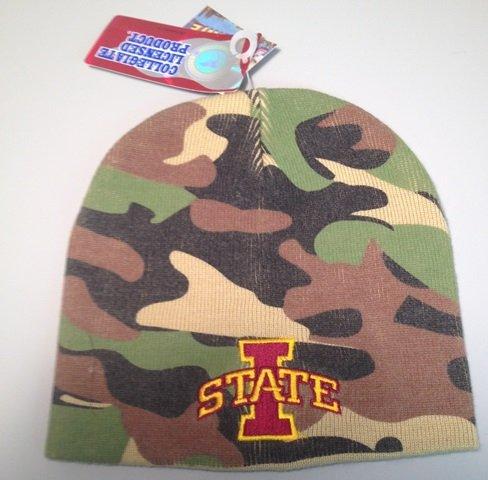 NCAA Iowa State Camo Beanie Hat/Cap by Extreme Beanie