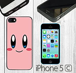 Cartoon Girl Cute Kirby LOL Custom made Case/Cover/Skin FOR iPhone 5C Color -Black- Rubber Case (Ship From CA)