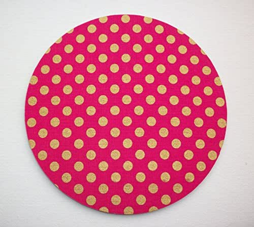 hot pink kitchen accessories zeal mat | Amazon.com: metallic gold on hot pink Mouse Pad mousepad ...