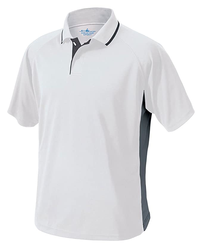 Charles River Apparel Mens Color Blocked Wicking Polo (Regular ...