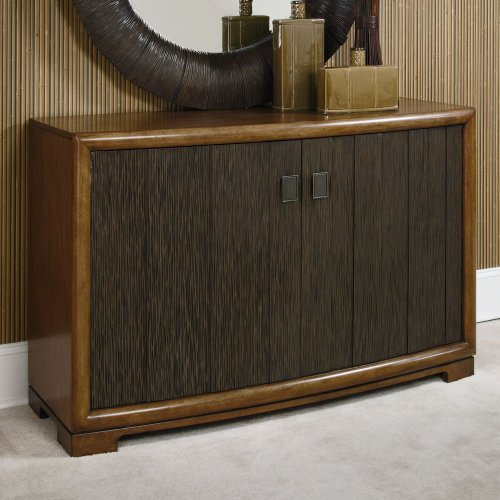 American Drew 2-Door Server in Chocolate Brown Finish 605584 2 American Drew Server