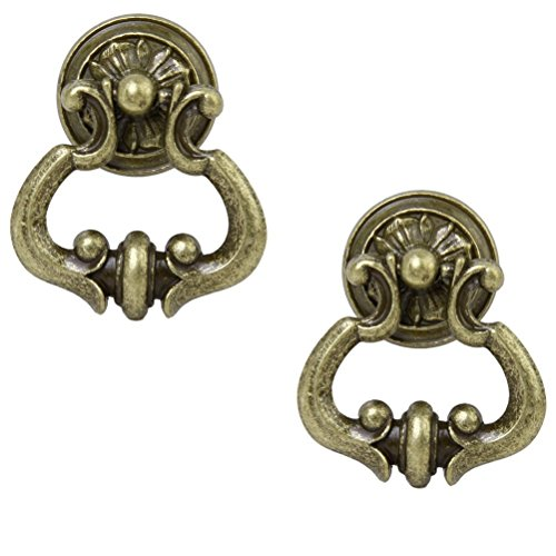 (Tinksky Antique Cabinet Cupboard Wardrobe Drawer Knob Door Pull Handle - 1 Pair)