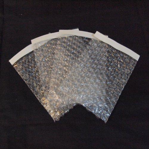 (50Pcs 6x8.5 SELF-SEAL CLEAR BUBBLE OUT POUCHES BAGS 3/16