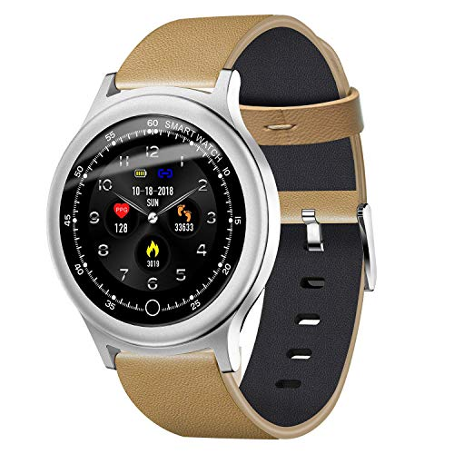 (TOOGOO Q28 Smart Watch 1.3 Inch TFT 240240 Color Screen Heart Rate Monitor IP67 Pedometer Sport Fitness Sleep Monitor Watches, Silver)