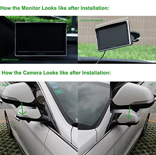 Car Side View Camera Monitor System Ir Led Blind Spot