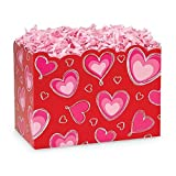 Large Ombre Hearts Basket Boxes - 10 1/4 x 6 x 7 1/2in. - 78 Pack