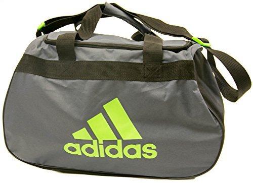 adidas Diablo Small Duffle Bag (Small, Grey/Neon Green)
