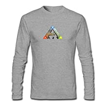 CHENGXINGDA Men's Ark Survival Evolved Game Logo Long Sleeve T-shirt