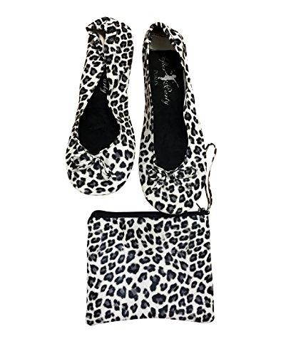 borsetta Leopard ballerine da Snow da donna Scarpe PIawf