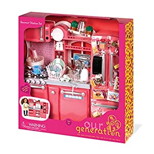 Our generation gourmet kitchen set for 18 for Kitchen set games