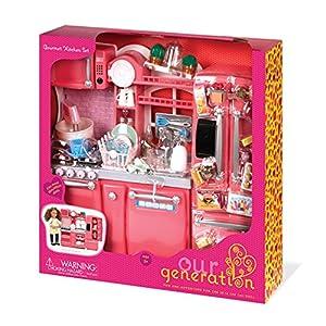 Our generation gourmet kitchen set for 18 for Kitchen set toys amazon