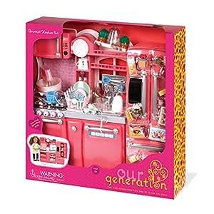 our generation gourmet kitchen set for 18 doll toys games. Black Bedroom Furniture Sets. Home Design Ideas