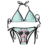 FDJKHY Personalized Women Bikini-Cute Pineapple With Sunglasses Swimsuit Beachwear