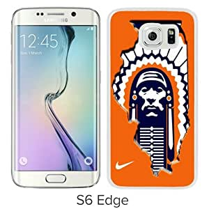 Popular Samsung Galaxy S6 Edge Case, Beautiful Designed Case With Illinois Fighting Illini 01 White Samsung Galaxy S6 Edge Cover