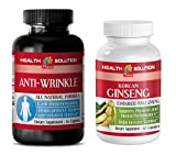 Product review for anti-aging beauty set - ANTI WRINKEL - KOREAN GINSENG - grape seed seed extract - (2 Bottles Combos)