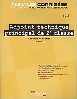 6e158b23445 Amazon.fr - Adjoint technique principal de 2e classe   Concours et examen -  Concours externe