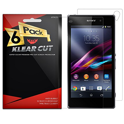 Klear Cut [6 Pack] – Screen Protector and Full Body (Front and Back) for Sony Xperia Z1 – Lifetime Replacement Warranty - Anti-Bubble & Anti-Fingerprint High Definition (HD) Clear Premium PET Cover – Retail Packaging