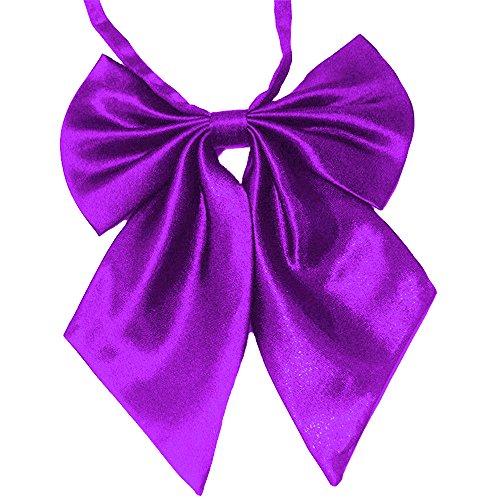Flairs New York Women Handmade Pre-Tied Bowknot Bow Tie (Lavender Purple [Silky])