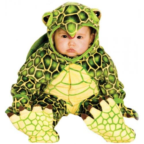 Underwraps Costumes Baby's Turtle Costume Jumpsuit, Green/ Yellow, Medium (18 - 24 -
