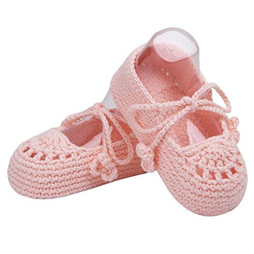 Pictures of Kuner Handmade Crochet Newborn Baby Shoes Mary 4