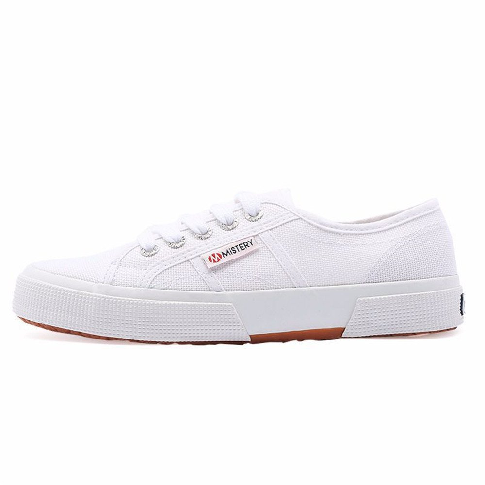 excellent.c Girls Casual Canvas Shoes Breathable Walking Shoes Autumn New Fashion Women's Shoes Vulcanize Flats B07CWHZKKY 38/7.5 B(M) US Women|White