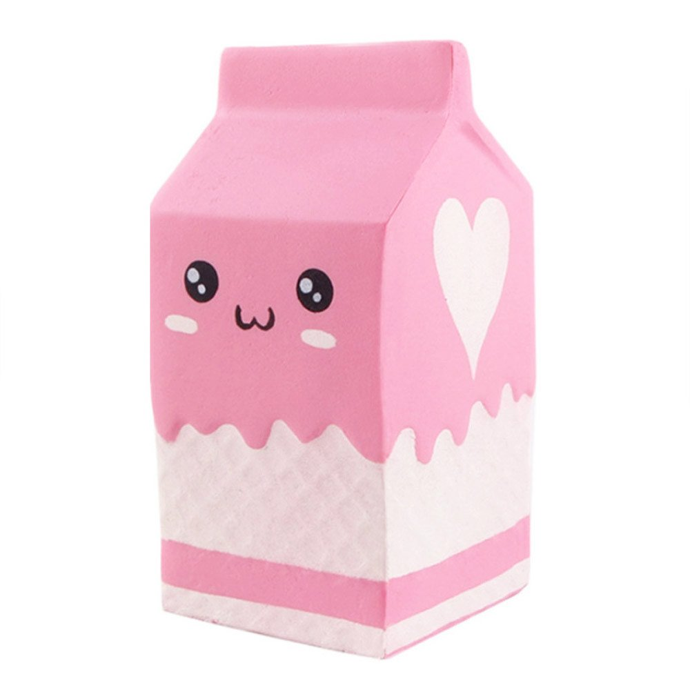 Choosebuy❤️ Squishies Jumbo Yogurt Bottle Scented Super Slow Rising Stress Relief Kawaii Toys Xmas Christmas Collection Gift (A)
