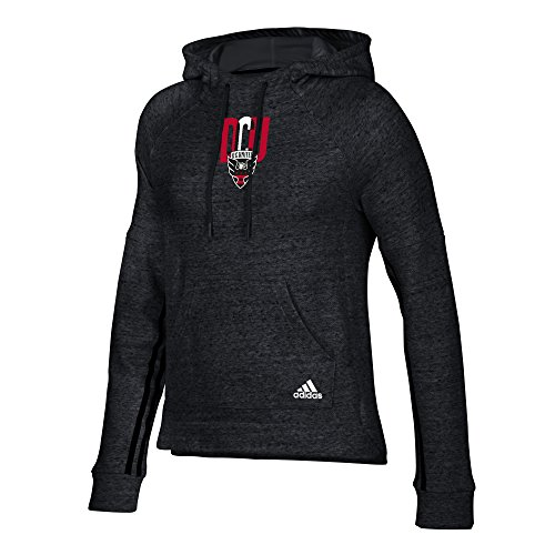 adidas MLS D.C. United Women's Inner Drop Pullover Hood, X-Large, Black Heathered
