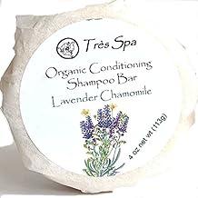 Organic Conditioning Shampoo by Très Spa | Solid Shampoo Bar | 100% Natural | Vegan Friendly | Eco-Friendly (Lavender Chamomile)