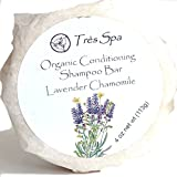Organic Conditioning Shampoo by Très Spa | Solid Shampoo Bar | 100% Natural | Vegan Friendly | Eco-Friendly (Lavender Chamomile)