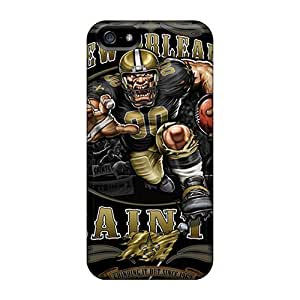 KerryParsons Iphone 5/5s High Quality Hard Phone Covers Allow Personal Design High Resolution New Orleans Saints Pattern [lrF18469Mrwt]