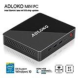 [Latest Gemini Lake] ADLOKO GE41 - Mini PC, Intel Gemini Lake N4100, HD Graphics 600, RAM DDR4 4GB/ROM 64GB, Support 2.5'SATA HDD/SDD/USB Type-C/Dual HDMI 4K/Gigabit LAN/Dual WiFi