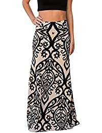 Women Coral Print Long Maxi Skirt (8 Colors and Design Print)