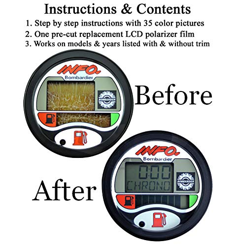 (Compatible With SEA-DOO Repair Kit for LCD Info Gauge Center Display (Fits MANY 1996-05 GTX GSX GTI LRV RX XP/LTD DI RFI, See Ad For Exact Model & Year Fit,)