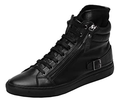 Amazon.com | Leather Casual Lace up Ankle Boots Fashion Mens Hi