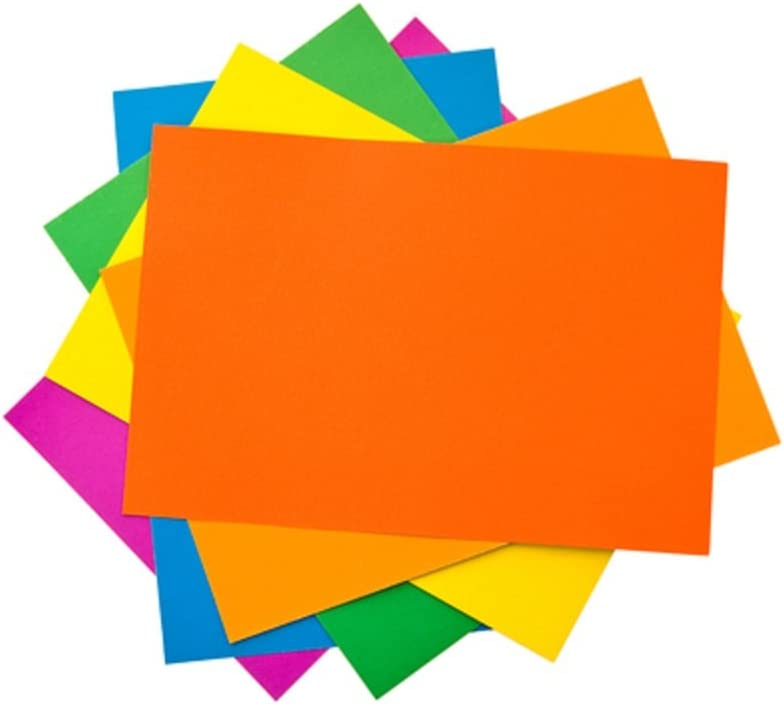 A2 Assorted Bright Coloured Card 220gsm Pack of 30