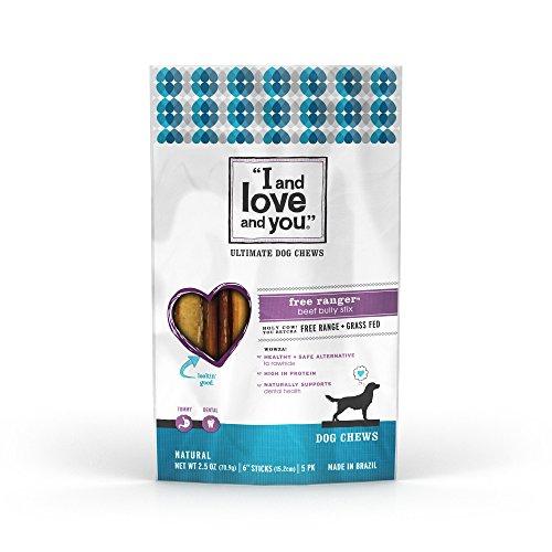 I&Love&You Dog Chew Fr Rngr Bully Stk 6ct