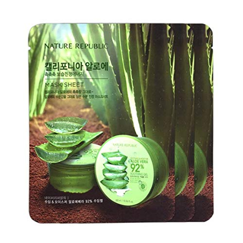20 sheets of Nature Republic Sample Mask Sheet Low Price Value Pack (California Aloe)