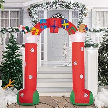 Amazon.com: Navidad inflable Animated LED Fuzzy felpa oso de ...